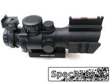 Goliath 4x32 Tactical Scope Red/Green/Blue Illuminated Chevron Reticle Fibre UK