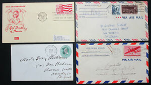 US-Postage-Set-of-4-Covers-Jamboree-Fancy-Cancel-FDC-GS-Lupo-USA-Letters-H-8282