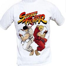 Street Fighter Ryu/Ken Mens T-Shirt Cotton Short Sleeve XL New