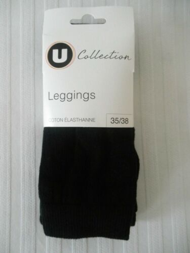 leggings femme taille 35//38 neuf 75/% coton epais