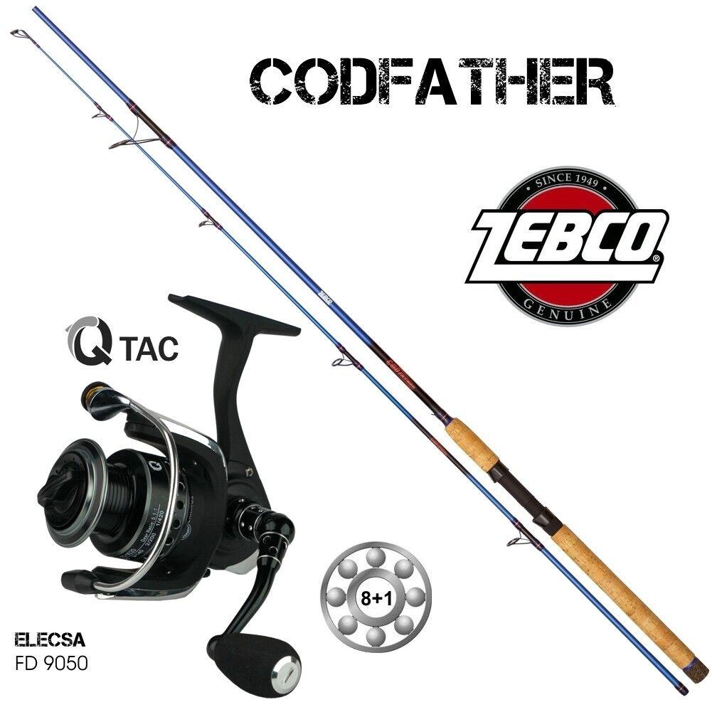 Top Meers-Set Q-Tac ELECSA 8 1BB Zebco Codvater 2,20 m 60 -180g