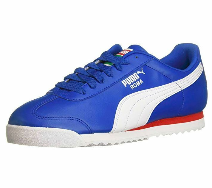 PUMA ROMA BASIC OLYMPIAN Bleu-PUMA blanc 353572-86 SNEAKERS homme chaussures B