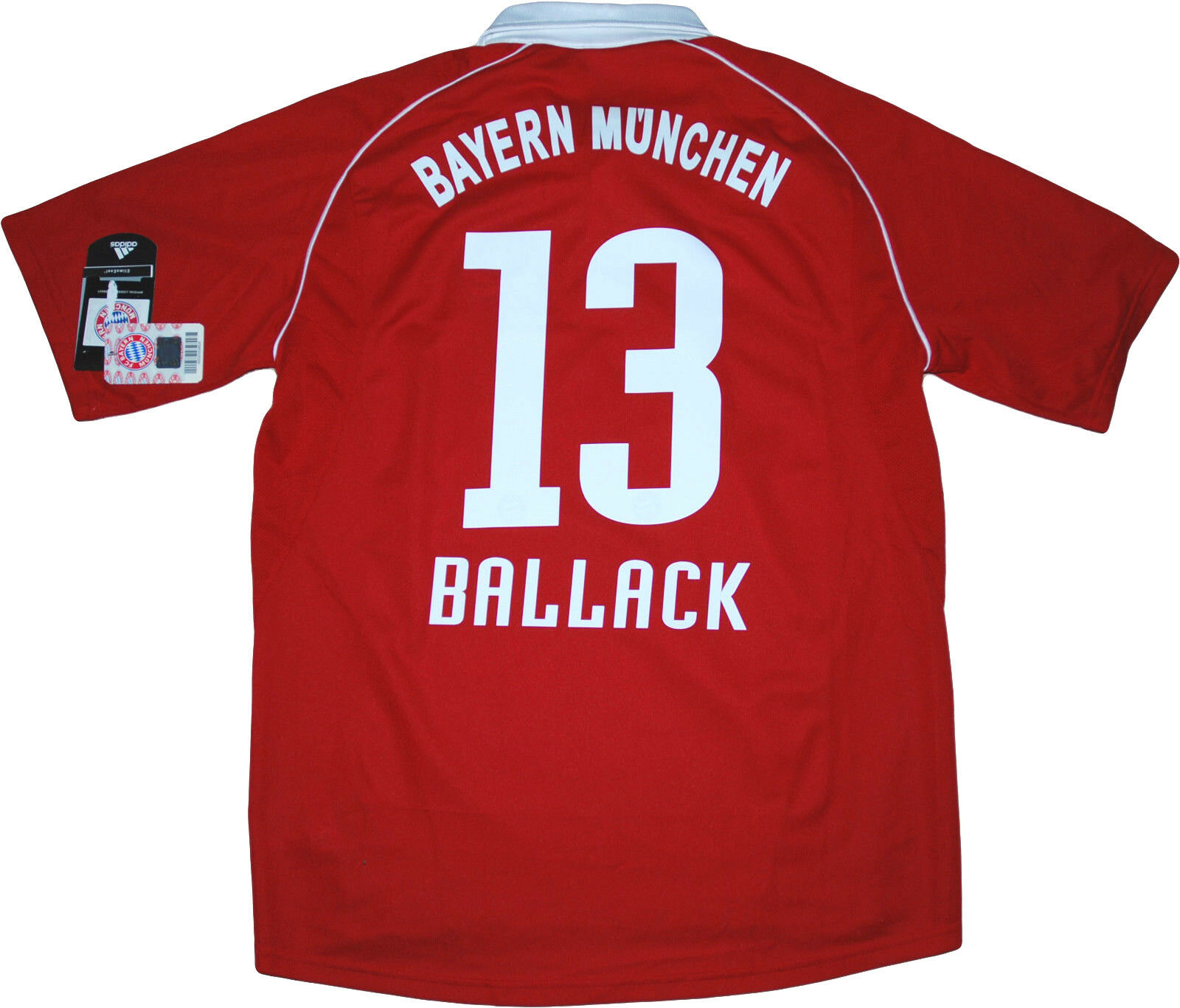 Maglia Bayern Monaco Btuttiack Vintage Adidas 2005 2006 UCL home shirt Jersey Home