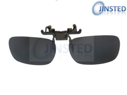 Black Polarised Polarized Flip Flip-Up Clip On Clip-On Sunglasses Shades ACP003