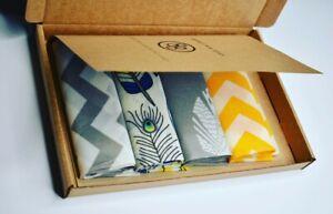 Set-of-4-Large-30cm-Beeswax-Food-Wrap-Reusable-Natural-Big-Bee-039-s-Wax-Wraps-Gift