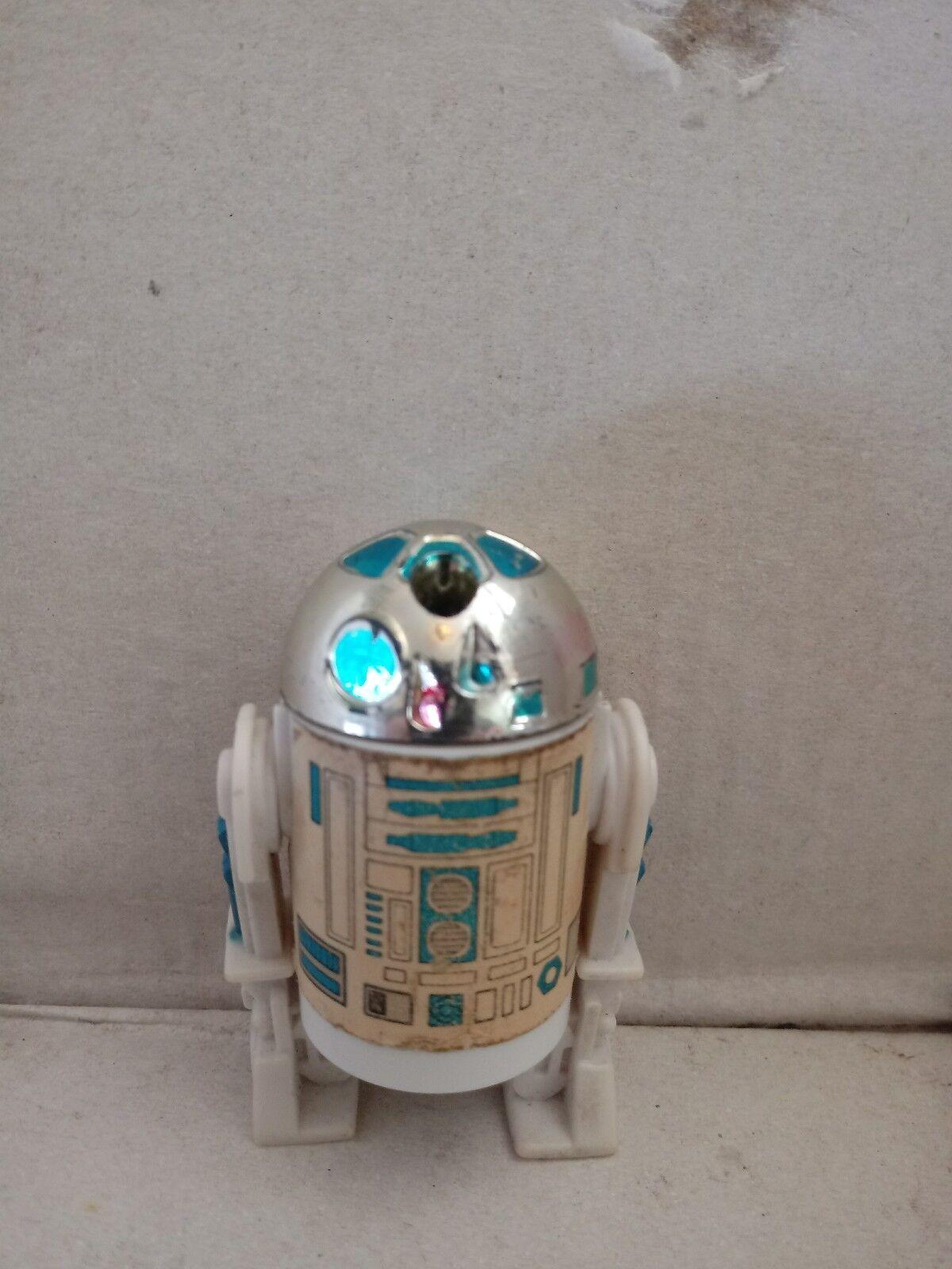 VINTAGE 1985 STAR WARS R2-D2 POP UP LIGHTSABER SABER POTF LAST 17 ORIGINAL