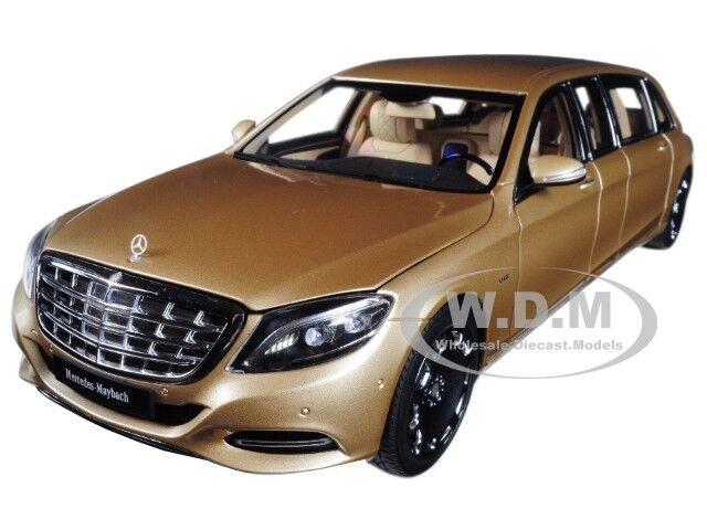 Mercedes s 600 pullman maybach Gold 1   18 - modell - auto von autoart 76298