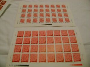 CHINA-1993-SC-2429-2430-YEAR-of-the-ROOSTER-LOT-of-TWO-2-FULL-SHEETS-MNH