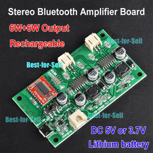 dc 5v 3 7v stereo amp bluetooth audio receiver 6w 6w power amplifier board 6wx2 699951382473 ebay. Black Bedroom Furniture Sets. Home Design Ideas