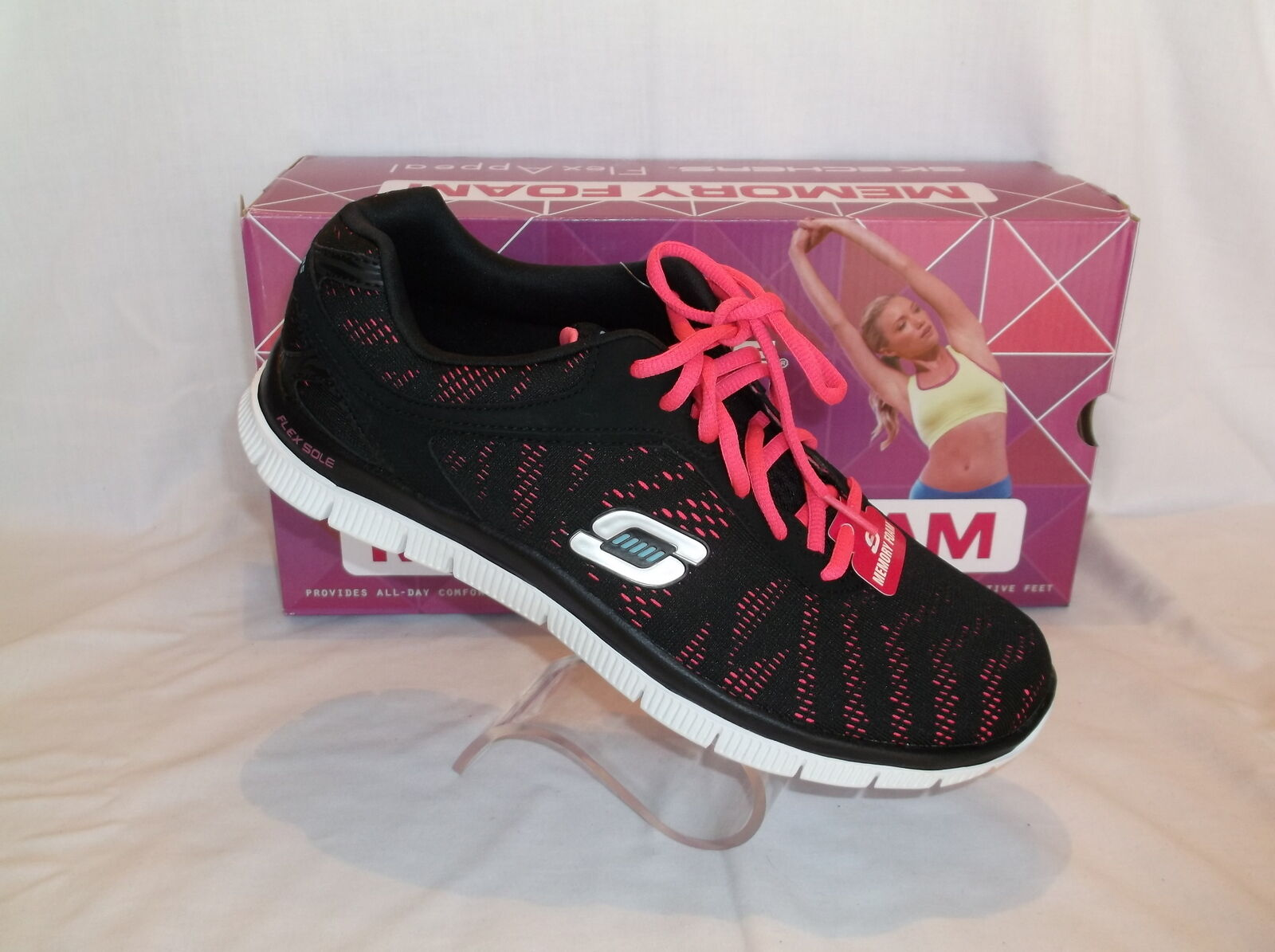 SKECHERS FLEX APPEALMEMORY FOAM ATHLETIC IN SHOE SZ 10 NEW IN ATHLETIC BOX a8a473