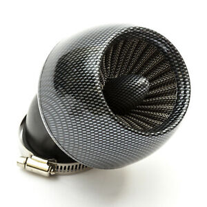 48mm-Pitbike-Air-Filter-Carbon-Fibre-Performance-High-flow-Jetcone-Angled-Neck