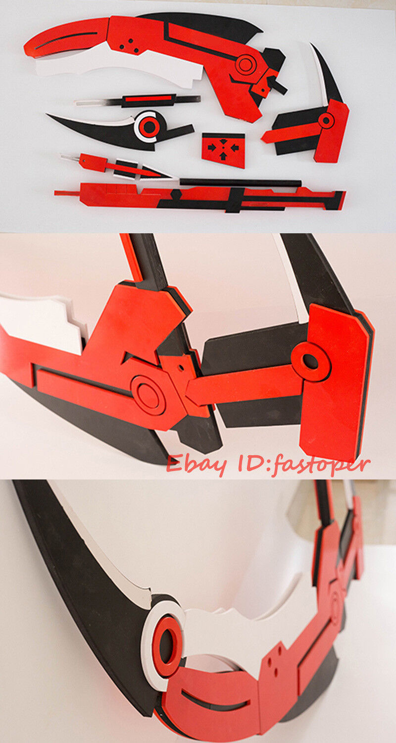 Crescent Rose Handheld RWBY Ruby Cosplay Detachable PVC Prop Collection Handmade