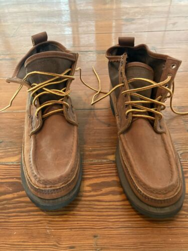 """Russell Moccasin 8.5 A Boots 5"""" Back Leather Wisco"""