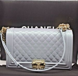 a45e4be45a69a6 Image is loading NEW-Authentic-CHANEL-Deauville-2way-Chain-Shoulder-Tote-