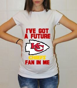 best website bbd00 3fe3c Details about Kansas City Chiefs Baby Shower Maternity Shirt Pregnancy  T-shirt Mom to be Shirt