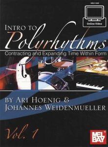 HonnêTeté Intro To Polyrythmie Sheet Music Book With Video Contractantes Expansion Temps-afficher Le Titre D'origine