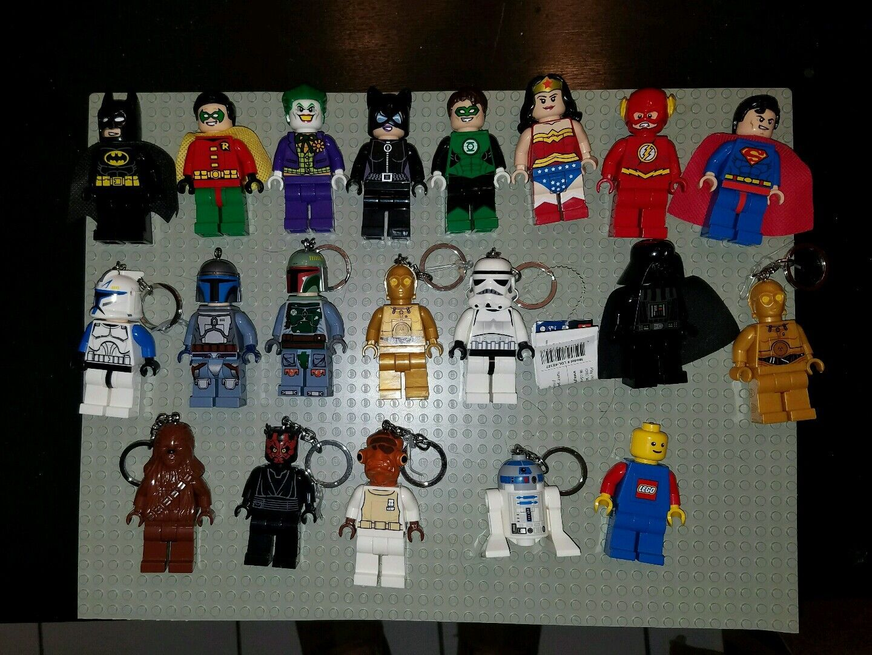 Lego Lego Lego super hero and batman and star wars led flash lights figures of 20 702295