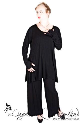 CHALONA schwarz SHIRT mit Blickfang Gr 44 46 48 50 52 54