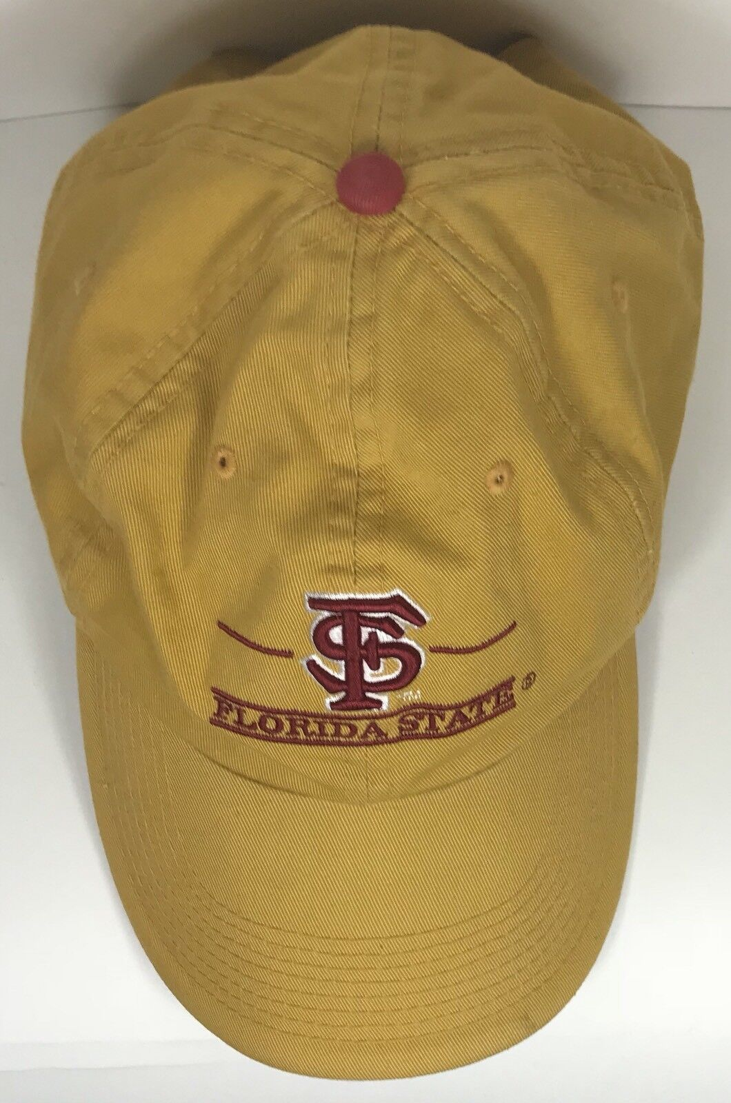 FLORIDA ST STATE SEMINOLES NCAA Yellow Strapback HAT THE GAME BAR CAP HAT Strapback ff430d