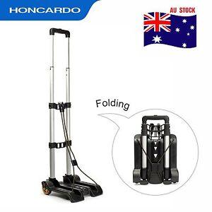 Aluminium Luggage Cart Folding Hand Truck  Portable Travel Shopping Trolley