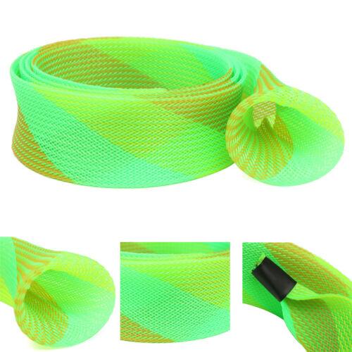 Braided Mesh Tube Shape Skin Casting Fishing Rod Sleeve Cover Glove Protector