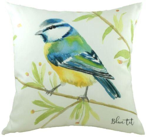 """43 cm coussin Remplis de Evans Lichfield Britannique oiseaux mésange bleue 17/"""""""