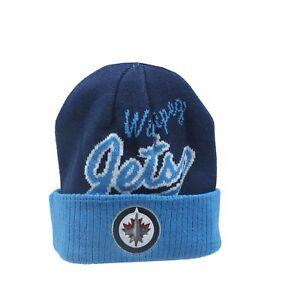 Winnipeg-Jets-NHL-Reebok-Youth-Boys-8-20-Cuffed-Winter-Beanie-Hat-Cap-New-Tags