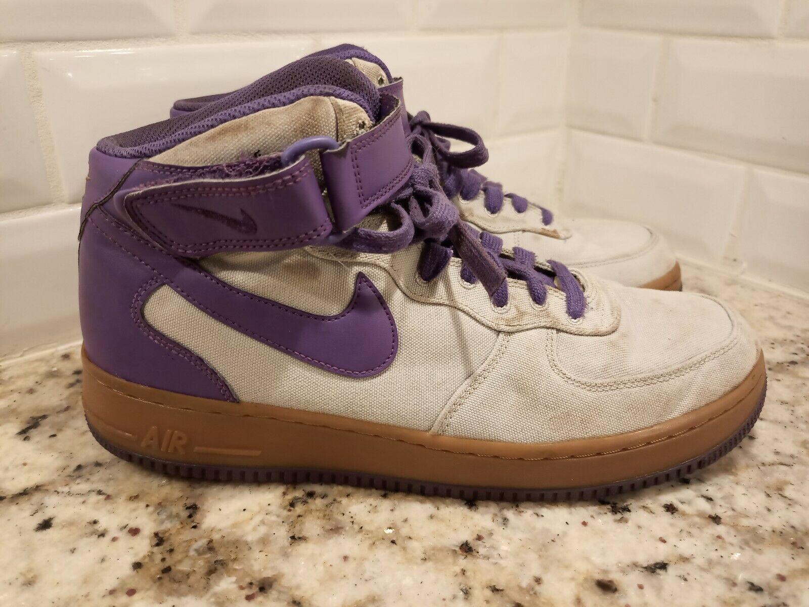 Nike Air Force 1 Mid Light Bone Purple