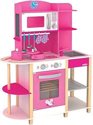 1081850-Woodyland 91311 - Cucina giocattolo Trendy Deluxe con molti accessori in