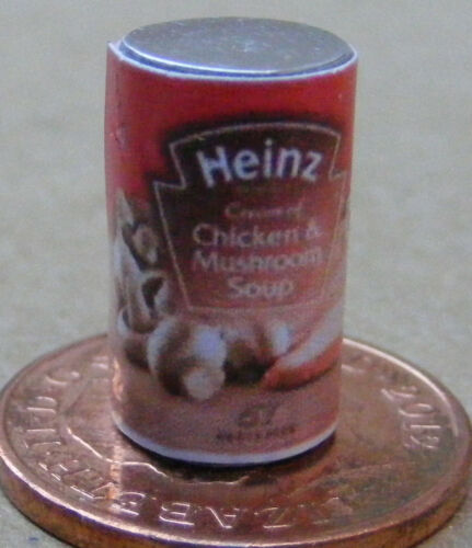 Escala 1:12 vacía Pollo /& SETA sopa de estaño tumdee Casa De Muñecas Accesorio de alimentos