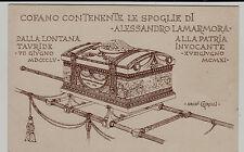 #MILITARI-BERSAGLIERI: COFANO CONTENENTE LE SPOGLIE DI A. LAMARMORA- dis.CIRILLI