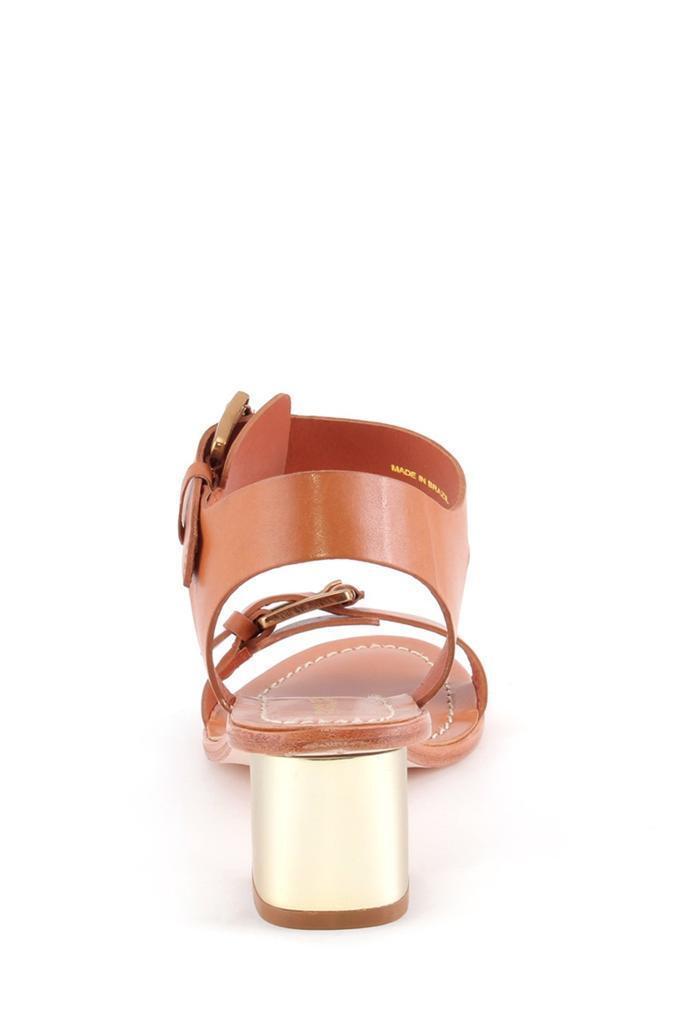 Pour La Victoire Ilissa Saddle Flat Braun Gold Leder Flat Saddle Sandales Open Toe Buckle b9ce59