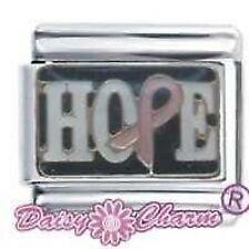 DAISY CHARM Italian Charms - HOPE BREAST CANCER RIBBON