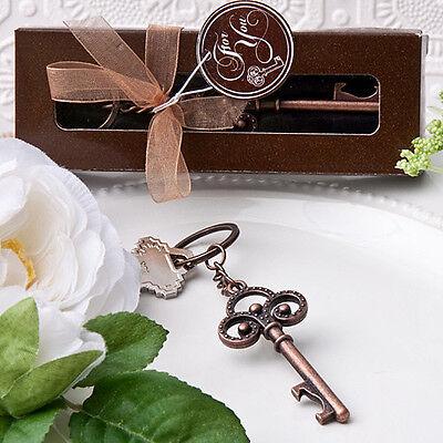 50 Vintage Skeleton Key Chain Bridal Shower Wedding Favor Event Gift Lot New