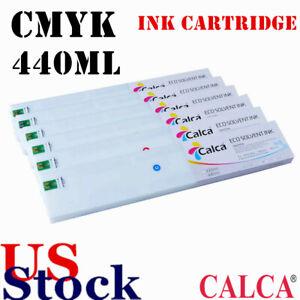 USA 4pcs Calca Compatible 440ml Roland ECO-Sol Max Ink Cartridge CMYK