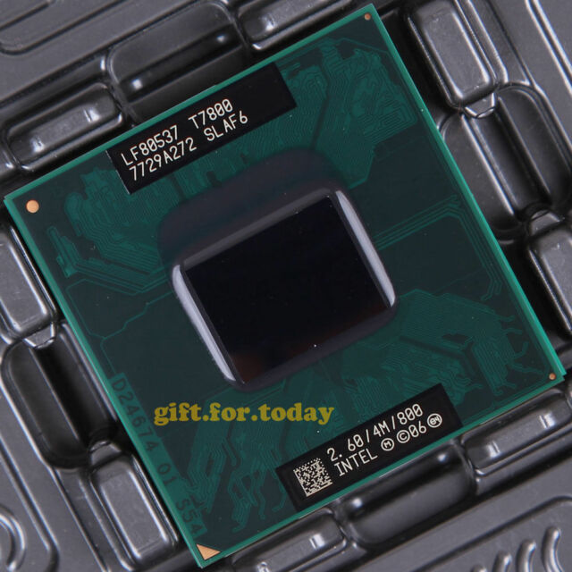 Intel Core 2 Duo T7800 SLAF6 2.6GHz Dual-Core CPU + Free thremal grease