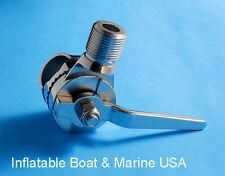 Boat VHF Antenna Ratchet Base Clamp On / Rail Mount - Marine 316 Stainless Steel