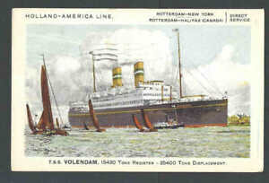 1930-PPC-Holland-American-Line-T-S-S-Volendam-Ocean-Liner