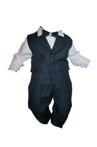 Taufanzug festanzug Garçons Costume Garçon STAS 4tlg blanc-bleu marine