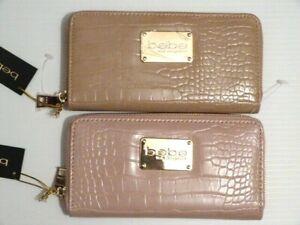 NWT* Stunning BEBE  Natalie croco wallet