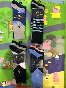 Polo Ralph Lauren Men/'s Dress Argyle Crew 3 pack Socks 10-13 Multi-Color
