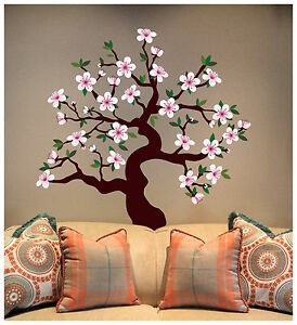 Image Is Loading Matte Finish Cherry Blossom Tree Wall Decal Deco