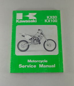 Manual-de-Taller-Taller-Manual-Kawasaki-KX-80-100-Vollcross-Von-1990