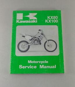 Manual-de-Taller-Taller-Manual-Kawasaki-KX-80-100-Vollcross-Von-1990