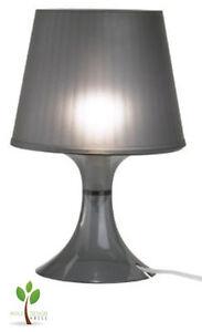 Ikea Lampan Design Tischleuchte Tischlampe Lampe Nachttisch Schwarz