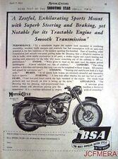 1955 Motor Cycle ADVERT - B.S.A. '500cc Twin Shooting Star' Print AD