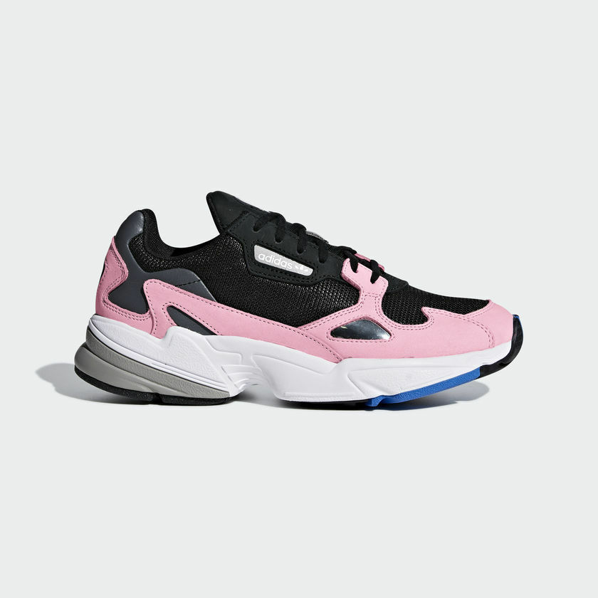 ADIDAS ORIGINALS FALCON chaussures noir rose B28126 US femmes SZ 5-11