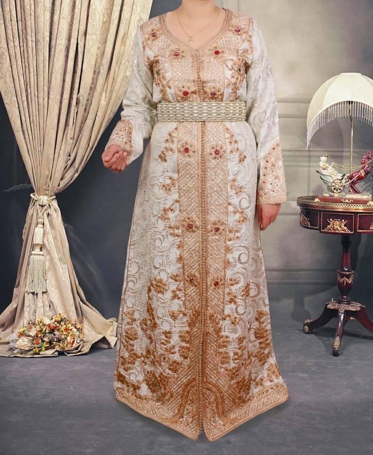 Royal Mgoldccan Caftan ethnic bridal dress mgoldcco Wedding Robe Handmade