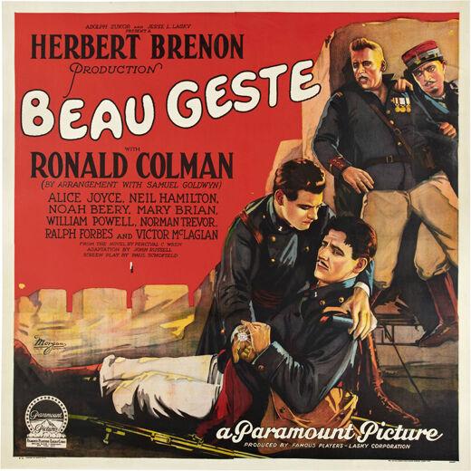 Beau Geste a paramount Movie Decorative Poster Home Graphic Art Design 4167