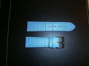 24mm Watch Strap Blue Alligator Grain - <span itemprop=availableAtOrFrom>Runcorn, United Kingdom</span> - 24mm Watch Strap Blue Alligator Grain - Runcorn, United Kingdom